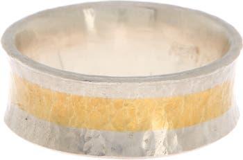 Кольцо в виде песочных часов из стерлингового серебра и 24-каратного золота с вермеилом Gurhan