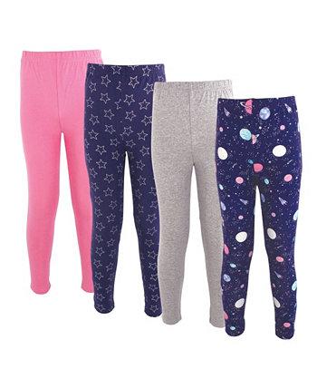 Хлопковые брюки и леггинсы для маленьких девочек и мальчиков, 4 шт. В упаковке Hudson Baby