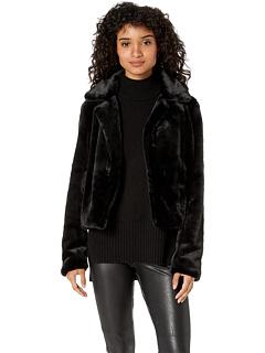 Укороченная куртка из искусственного меха в Uptown Girl Blank NYC