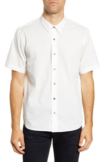 Спортивная рубашка с короткими рукавами и короткими рукавами в полоску Arellano Slim Fit BALDWIN