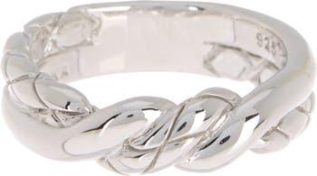 Кольцо из стерлингового серебра с витой лентой Judith Ripka