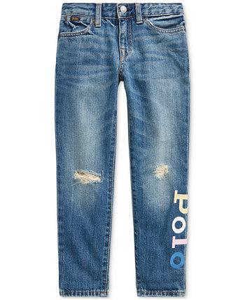 Узкие джинсы-бойфренды Little Girls Astor Ralph Lauren