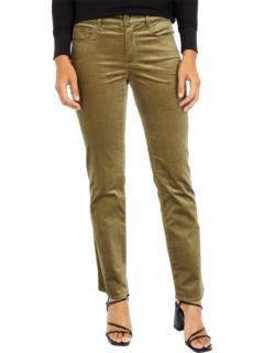 Прямые бархатные джинсы Petite Marilyn в цвете Martini Olive NYDJ Petite