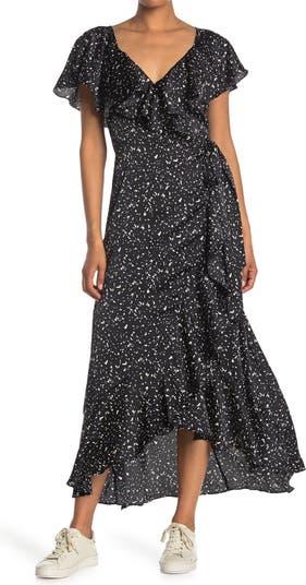 Макси-платье со струящимися рукавами ONE ONE SIX