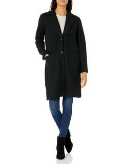 Пальто из Вареной Шерсти-черный Tribal