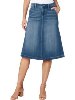 Джинсовая юбка с круглым вырезом в цвете Lanier Mid Blue Liverpool