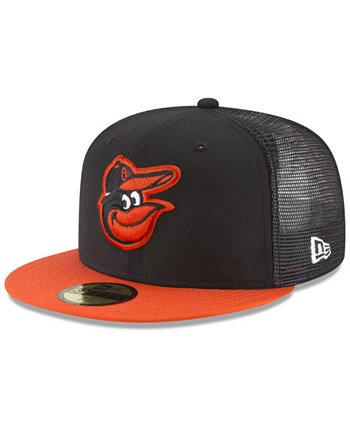 Сетчатая задняя крышка Baltimore Orioles 59FIFTY Установленная кепка New Era