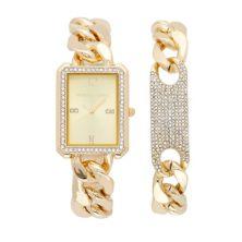 KENDALL & KYLIE Women's Crystal Watch & Bracelet Set Kendall & Kylie