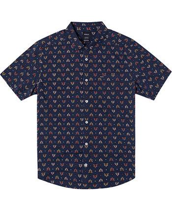 Мужская тканая рубашка с коротким рукавом LA Fleur RVCA