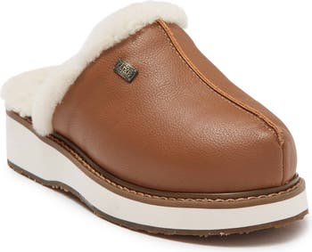 Vegan Leather Genuine Shearling Supper Mule Australia Luxe Collective