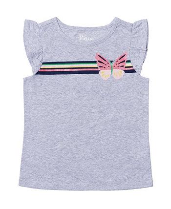 Toddler Girls Flutter Sleeve Graphic Tee Epic Threads