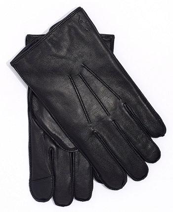 Мужские водоотталкивающие кожаные перчатки Ralph Lauren