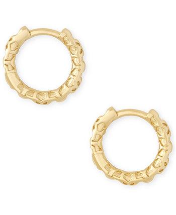 """Маленькие серьги-кольца Huggie с узором, 0,51 """" Kendra Scott"""