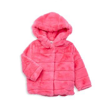 Маленькая девочка & amp; Пальто Goldie для девочек из искусственного меха APPARIS