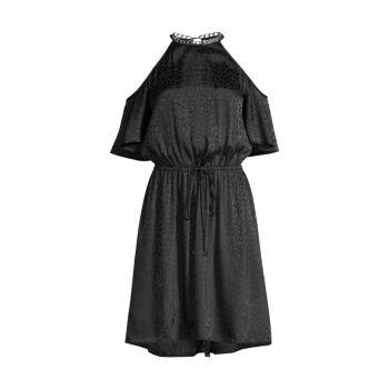 Атласное платье с открытыми плечами MICHAEL Michael Kors