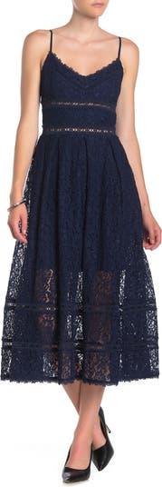 Кружевное платье-миди без рукавов NSR
