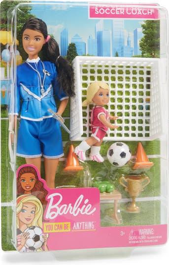 Игровой набор куклы футбольного тренера Барби (R) Mattel
