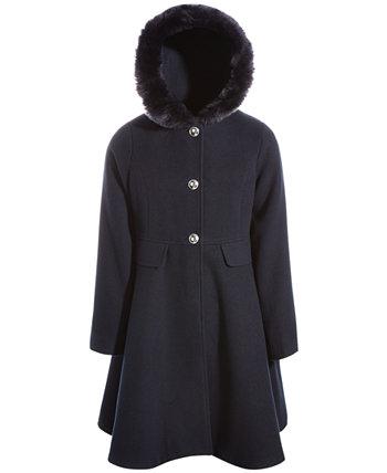 Пальто с капюшоном и бантом для больших девочек S. Rothschild & Co. S Rothschild & CO