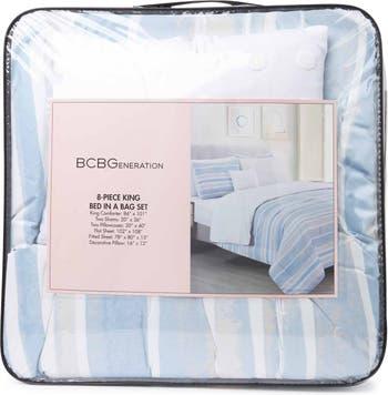 Кровать Queen Seaside Stripe из 8 предметов в наборе простыней BCBGeneration