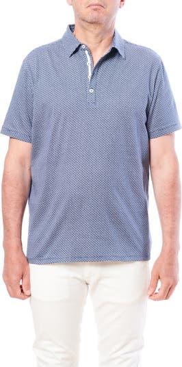 Мини-футболка-поло с короткими рукавами и геометрическим принтом Toscano