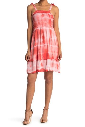 Платье со сборками и принтом тай-дай Angie