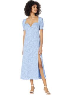 Дневное платье миди с цветочным рисунком Bardot