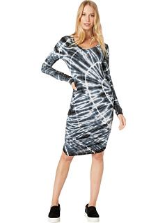 Платье со сборками сбоку Hard Tail