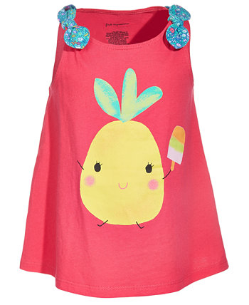 Хлопковый топ с ананасом для маленьких девочек, созданный для Macy's First Impressions