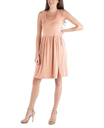 Приталенное платье без рукавов A-Line 24seven Comfort Apparel