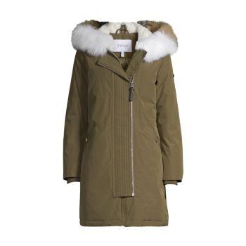 Куртка-анорак с нейлоновой отделкой из меха лисы DEREK LAM 10 CROSBY