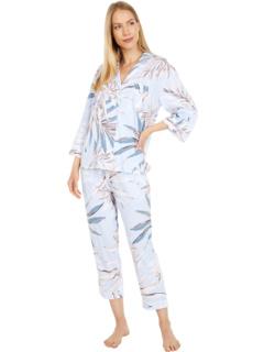 Пижамы Pima Cotton Пижамный комплект с рукавами 3/4 Donna Karan