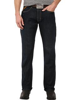 Узкие прямые джинсы Rebar M5 из черного камня Ariat