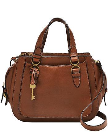 Женская кожаная сумка-портфель Brooke Fossil