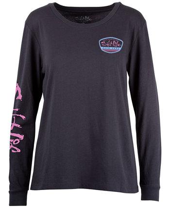 Женская хлопковая футболка-бойфренд с бейджем Get Barreled Badge Salt Life