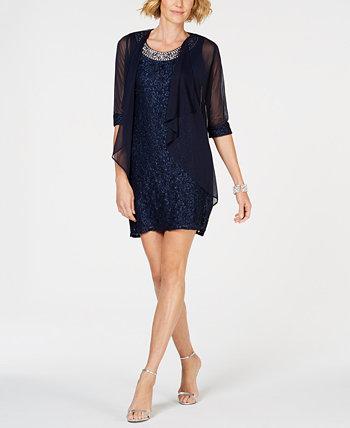 Кружевное платье и водопад Petite Glitter R & M Richards