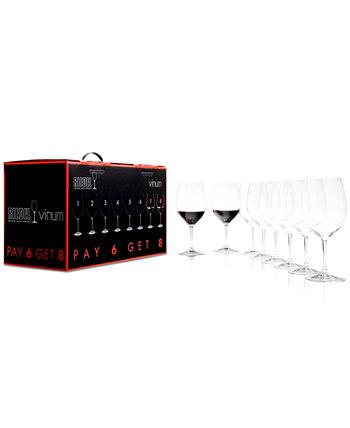 Бокалы для вина Vinum Bordeaux, набор из 8 предметов Riedel
