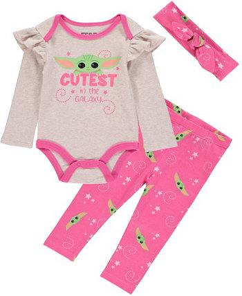 Комплект Baby Girls Baby Yoda, 3 предмета HAPPY THREADS