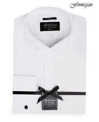 of London Мужская облегающая твердая рубашка-смокинг с французской манжетой Michelsons
