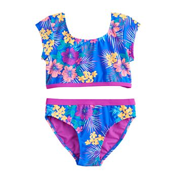 Girls 7-16 SO® Surf Island Floral Print Front Bow Bikini and Bottoms Swimsuit Set SO