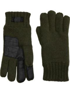 Вязаные перчатки с ладонью из технической кожи UGG