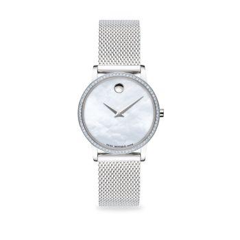 Часы-браслет из нержавеющей стали с сеткой и бриллиантами Pavé Movado