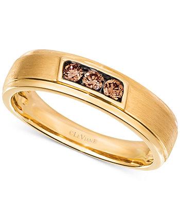 Мужская бриллиантовая повязка Chocolatier® (1/4 карат. Вес.) В 14-каратном золоте Le Vian