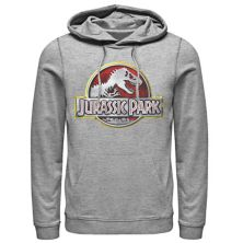 Мужская толстовка с капюшоном и хромированным логотипом Jurassic Park Jurassic Park