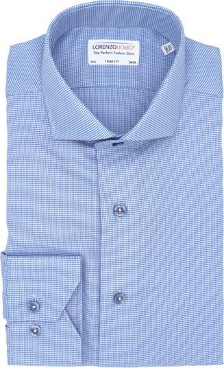 Фактурная классическая рубашка с принтом «гусиные лапки» и отделкой Lorenzo Uomo