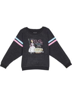 Love Knit Boxy Long Sleeve Cropped Raglan Pullover (Little Kids/Big Kids) Chaser Kids