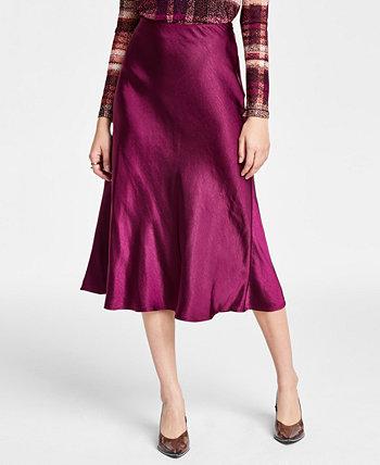 Атласная юбка-миди, созданная для Macy's Bar III
