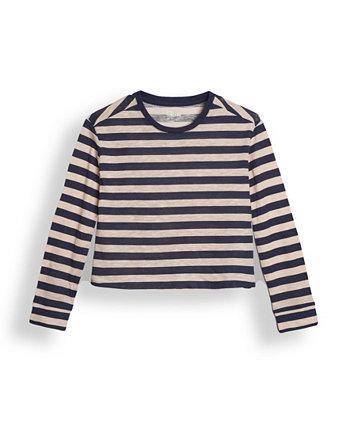 Big Girls Long Sleeve All Over Stripe T-shirt Epic Threads