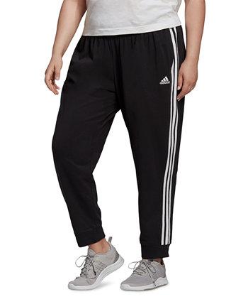 Зауженные брюки Essentials больших размеров с 3 полосками Adidas