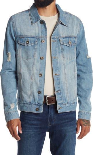 Джинсовая куртка с эффектом потертости Request
