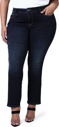 Джинсы с завышенной талией и прямыми штанинами SLINK JEANS
